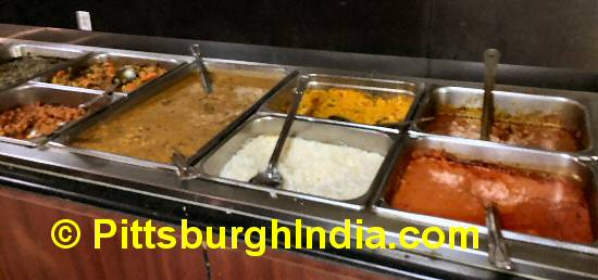 Indian Buffet Counter Pittsburgh